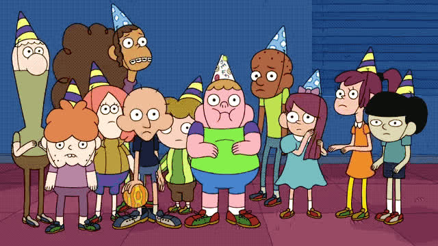 bday, birthday, cartoon, close, eyes, firends, god, happy, my, network, no, oh, oh no, omg, oops, party, ruined, surprise, Clarence - Ruined birthday GIFs