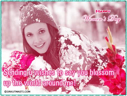Watch and share Sending You Wishes To Say You Blossom Up The World Around Me Happy Women's Day animated stickers on Gfycat