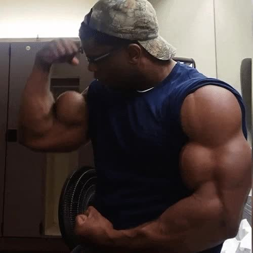 bodybuilder, musclegrowth, muscleworship, donte franklin GIFs