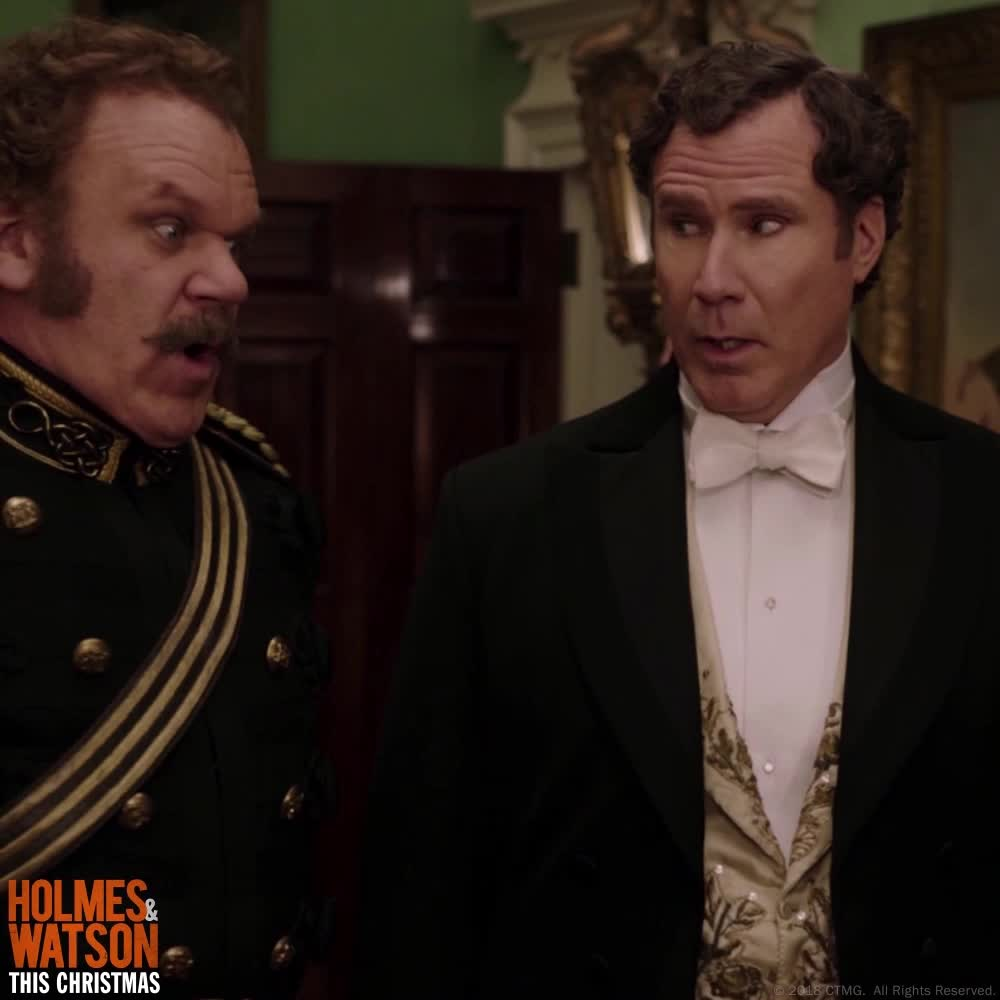 amazing, beautiful, excited, gorgeous, holmes & watson, holmes and watson, john c reilly, john watson, omg, pretty, sherlock holmes, stunning, will ferrell, wow, What A Looker Right? GIFs