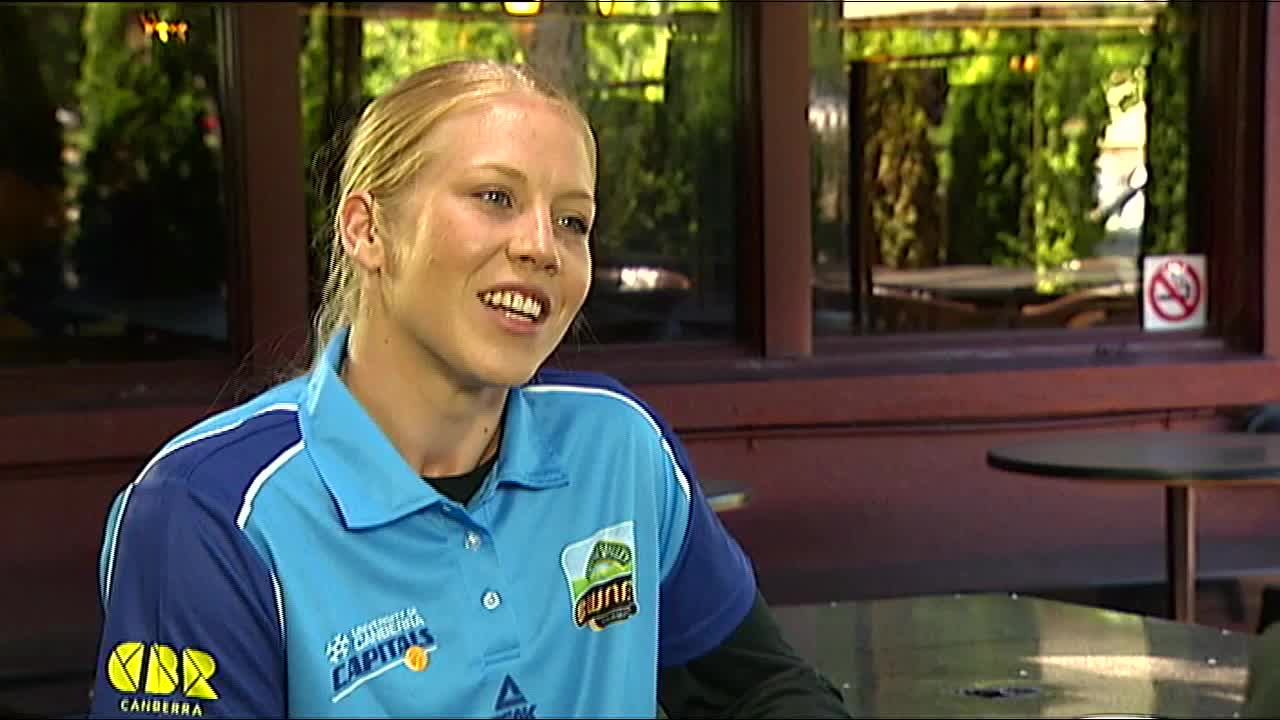 ABC Sport, Abby Bishop, Australian Broadcasting Corporation (TV Network), Basketball (Interest), Canberra (City/Town/Village), Canberra Capitals (Basketball Team), Carrie Graf, Kristen Veal, Lauren Jackson (Olympic Athlete), Stephanie Talbot, Women's National Basketball League (Sports Association), WNBL Abby Bishop Feature GIFs