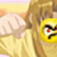 Naru hits Keitaro...again....