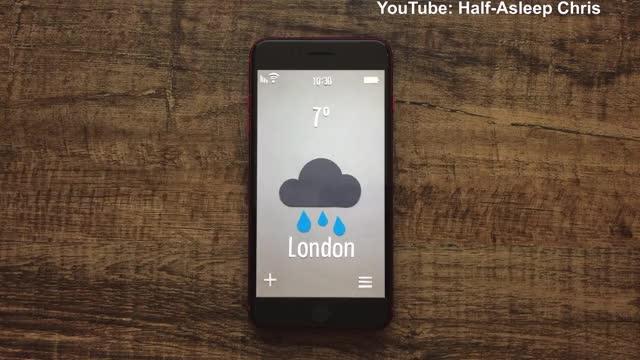 Watch and share Weather App - Half-Asleep Chris GIFs on Gfycat