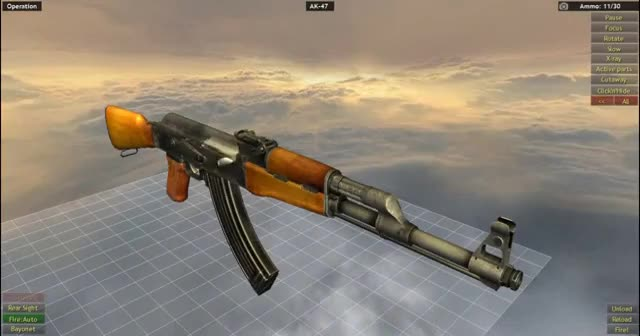 How Does The AK-47 Work - 3D Animation Model GIF | Find