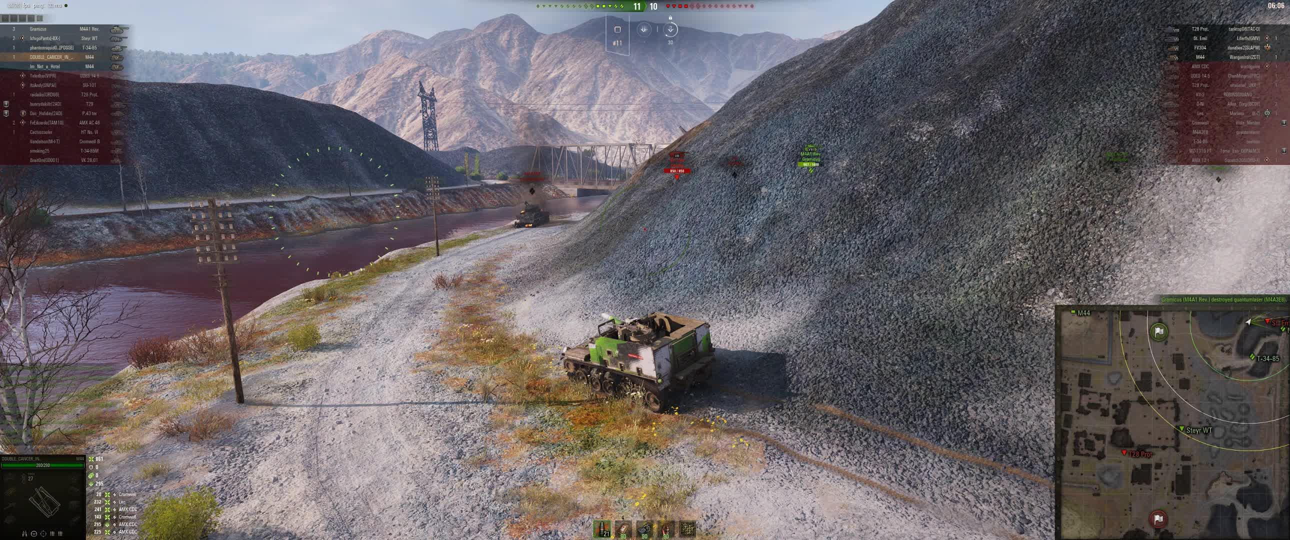 artillery, arty, world of tanks, PLaying M44 like a man GIFs