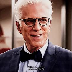 Watch and share Evil Laugh GIFs and Ted Danson GIFs on Gfycat