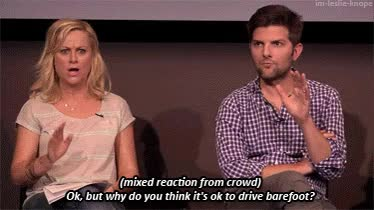 Watch Barefoot GIF on Gfycat. Discover more adam scott, amy poehler GIFs on Gfycat