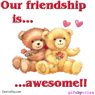 Watch and share Happy Friendship Day Glitter Graphics animated stickers on Gfycat
