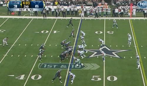 Russell reaches, Spencer sheds and blows up the play.  Booo Russell.