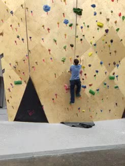 Watch and share Indoor Rock Climbing, The Lazy Way GIFs on Gfycat