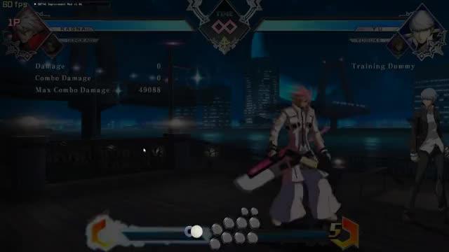 Blazblue: Cross Tag Battle (BBTAG) - Mitsuru Combos Solo