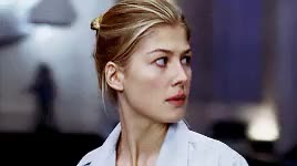 Watch and share By Mycoffeeneedsme GIFs and Rosamund Pike GIFs on Gfycat