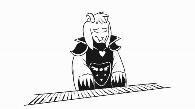 Watch Asriel plays Hopes&Dreams in MIDI  | UNDERTALE ANIMATED PARODY GIF on Gfycat. Discover more related GIFs on Gfycat