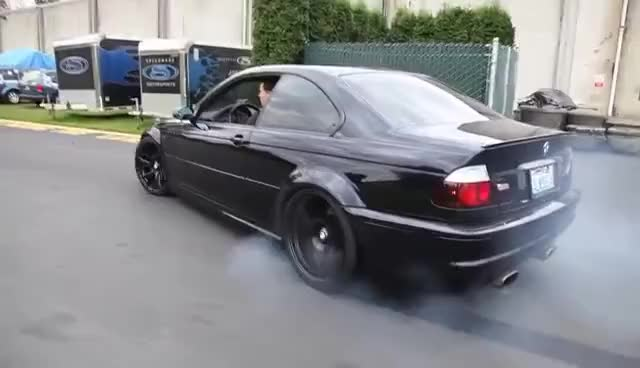 Watch and share Taking An E46 M3 Out For A Walk Then Doughnuts GIFs on Gfycat