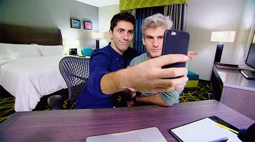 Watch this self photograph GIF on Gfycat. Discover more 4x06, adorable, catfish, catfish the tv show, felipe and jasmine, gif, max and nev, max joseph, max x nev, mine, nev schulman, personal, sch, season 4, self photograph, selfie, so so gay for each other, they're not even trying to hide it anymore, those cuties GIFs on Gfycat