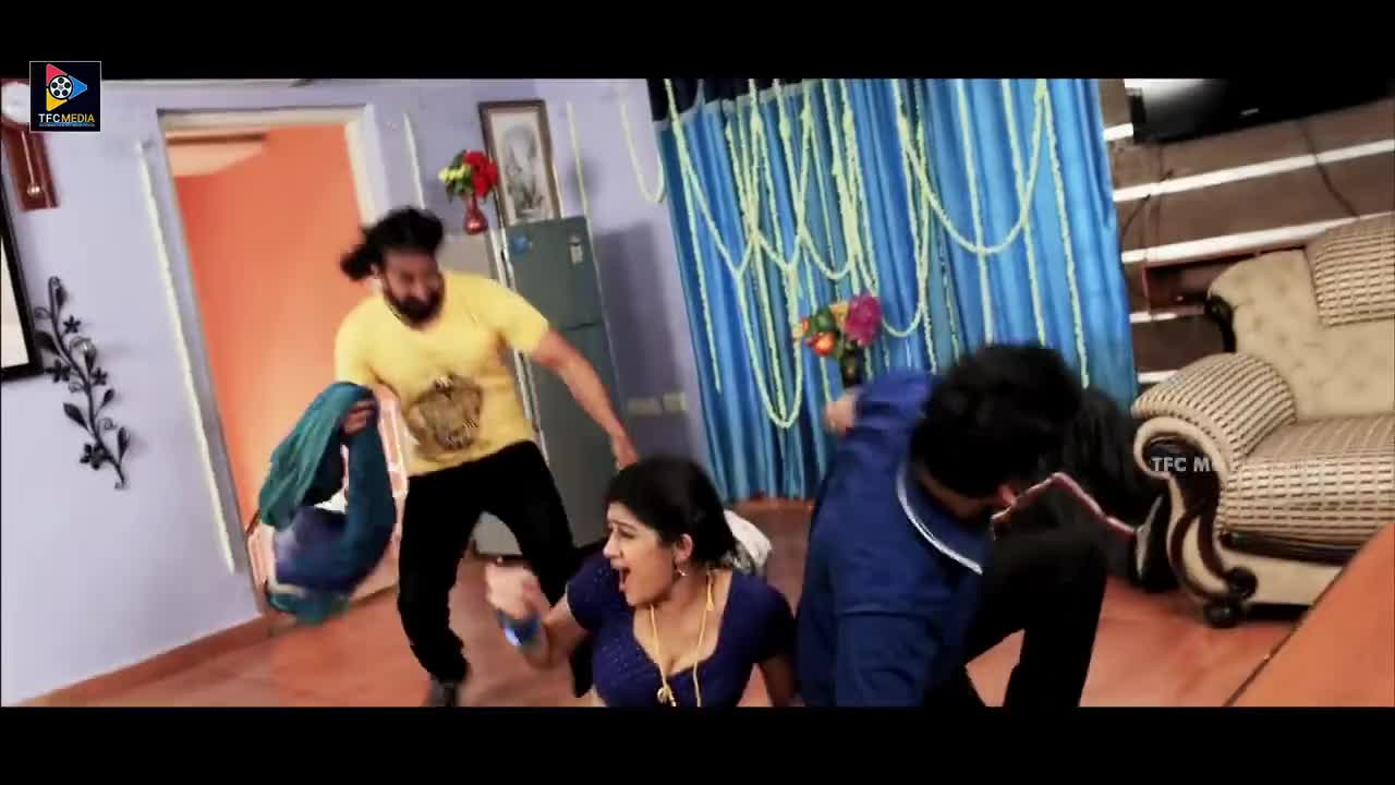 Villain Misbehave With Sona Chabra Scene    Latest Telugu Movies    TFC Movies Adda GIFs