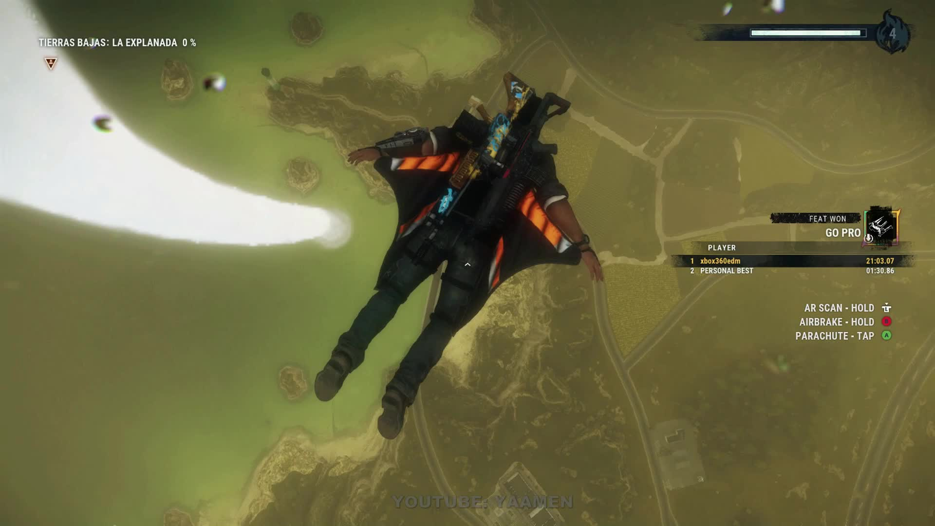 GAMEPLAY, GOPRO FEAT, JUST CAUSE 4, TORNADO, WINGSUIT, JUST CAUSE 4 - CIRCLING TORNADO IN WINGSUIT FOR OVER 21 MINUTES GIFs