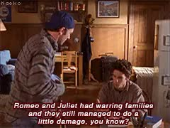 Watch and share Romeo And Juliet GIFs and Gilmore Girls GIFs on Gfycat