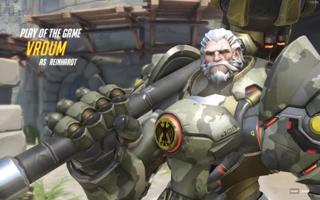 Watch and share Reinhardt GIFs and Overwatch GIFs by vroumish on Gfycat
