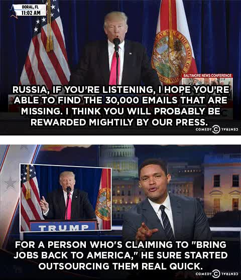 Watch and share Donald Trump GIFs and Trevor Noah GIFs on Gfycat