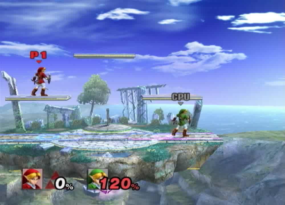 Bomb Jump, Link, Project M, SSBPM, Super Smash Bros, Super Smash Bros Project M, Link Neutral AGT > Up-b Bomb Jump  GIFs