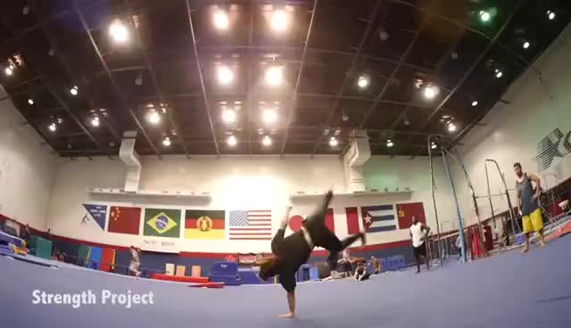INSANE EPIC Tricking Flips & Gymnastics Tumbling Session GIFs