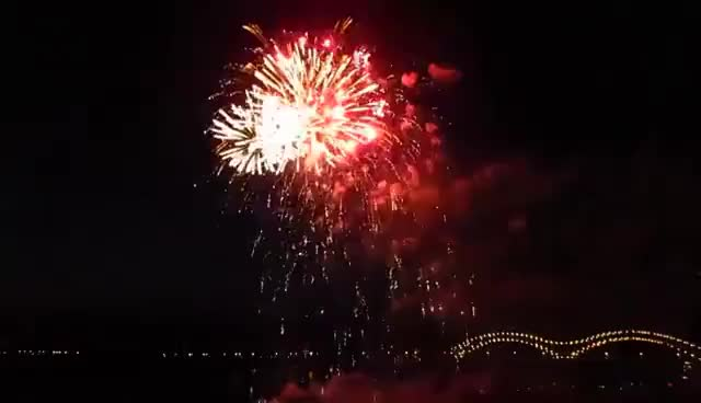 Watch and share Memphis TN July 4th Fireworks Over The Mississippi GIFs on Gfycat