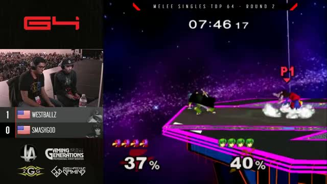 Genesis 4 SSBM - G2 Westballz (Falco) Vs. SmashG0D (Marth) Smash Melee Winners Ro16