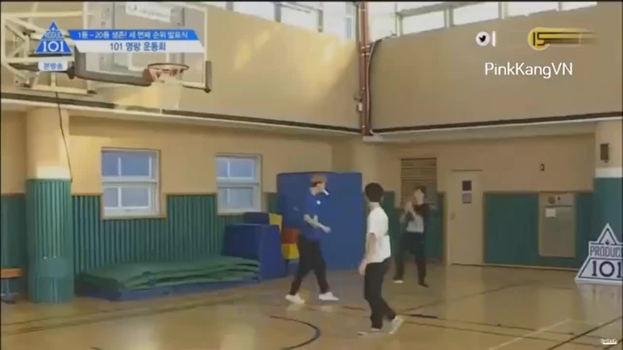 YooSeonho, cube, produce101, seonho, [produce 101 ss2] When trainees play basketball GIFs