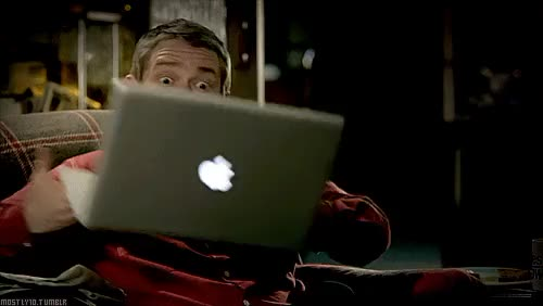 Watch and share Martin Freeman GIFs and Laptop GIFs on Gfycat