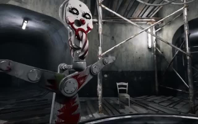 Watch Atomic Heart Clown Trap GIF on Gfycat. Discover more 2018, 2019, 3826, GamePlay, Mmo, PS4, Xbox, fps, games, mundfish, rpg, shock, shooter, soviet, steam, trailer, ussr, world GIFs on Gfycat