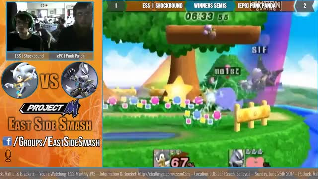 Watch ESS Monthly #13: ESS | Shockbound (Sonic) vs [ePG] Punk Panda (Wolf) - Winners Semis - Project M GIF by @shockbound on Gfycat. Discover more ssbpm GIFs on Gfycat