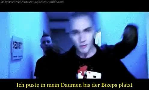 Watch this GIF on Gfycat. Discover more der tanz, deutsch rap, deutschrap, deutschrap gif, k.i.z, k.i.z gif, kannibalen in zivil, kiz, kiz gif, kriegsverbrecher in zwangsjacken, maxim drüner, maxim kiz, sido GIFs on Gfycat