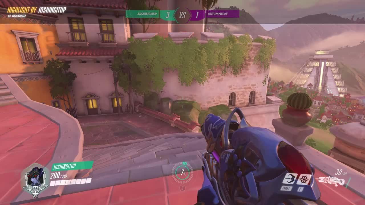 1v1, highlight, overwatch, widow, Overwatch Widow Counter-Air Shot GIFs