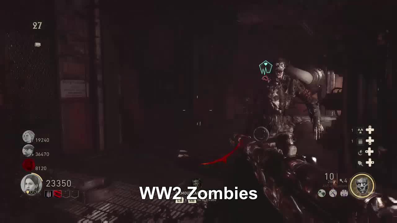 CallofDutyWWII, Rougass, xbox, xbox dvr, xbox one, WW2 Zombies GIFs