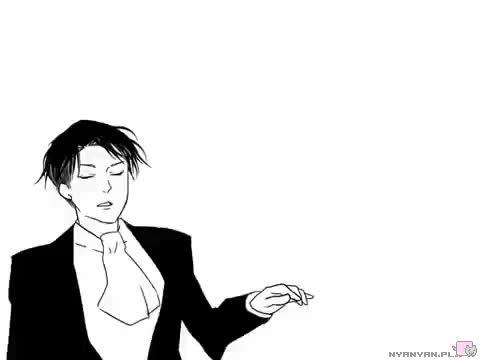 Watch and share Shingeki No Kyojin GIFs and Black And White GIFs on Gfycat