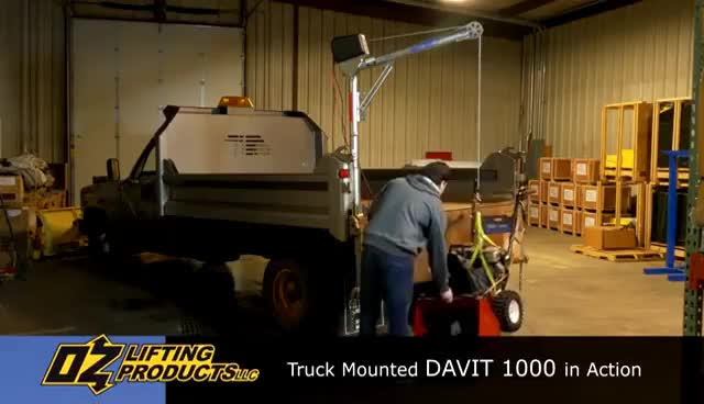 Small Truck Mounted Crane - Davit 1000 by Oz Lifting