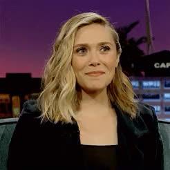 Watch Elizabeth Olsen at The Late Show with James Corden. GIF on Gfycat. Discover more by alejandra, edit, elizabeth olsen, eolsenedit, interview, lizzieolsenedit, marvelcastedit GIFs on Gfycat