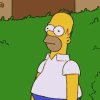 Watch and share Hiding Homer Photo: Hiding In A Bush HidingInBush.gif GIFs on Gfycat