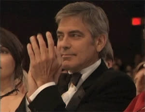 george clooney, sarcastic-clapping-goerge-clooney.gif GIFs