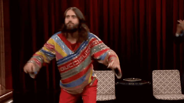 30, excited, fallon, happy, jared, jeah, jimmy, leto, mars, night, party, saturday, seconds, show, to, tonight, victory, win, woohoo, yay, Jarad Leto - Yeah GIFs