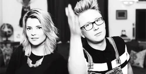 Watch and share Grace Helbig GIFs and Tyler Oakley GIFs on Gfycat