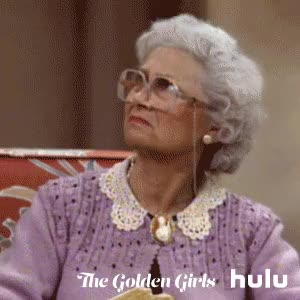 Watch and share Hulu, Ugh, Golden Girls, Over It, Disgusted, The Golden Girls, Sophia, Sophia Petrillo, Estelle Getty GIFs on Gfycat