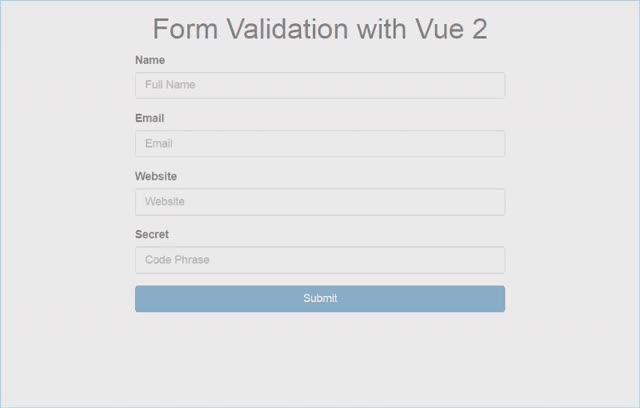 Watch and share Form Validation Using Vue.js 2 GIFs on Gfycat