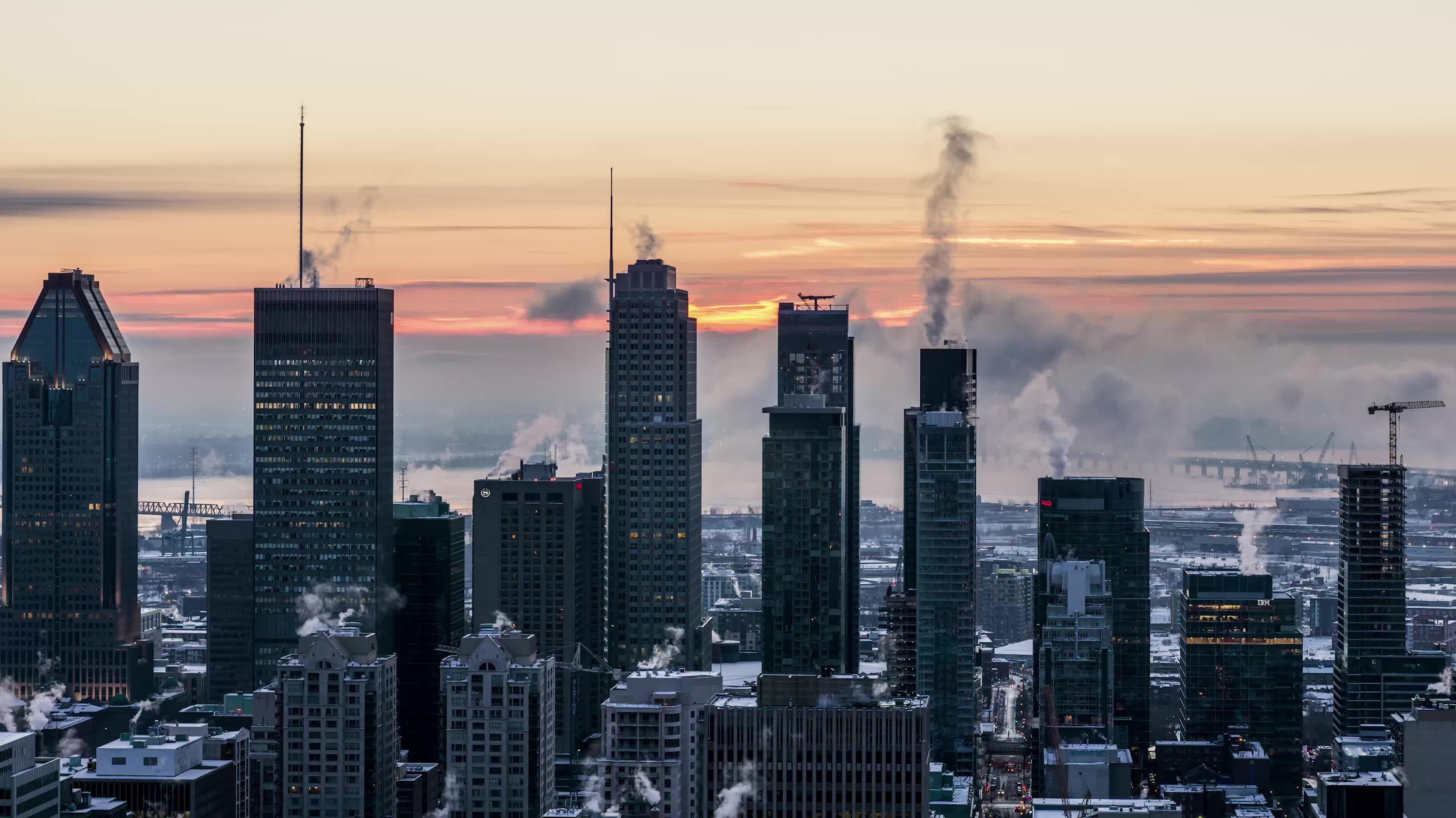 montreal, sunrise, Montreal Winter Sunrise Timelapse GIFs