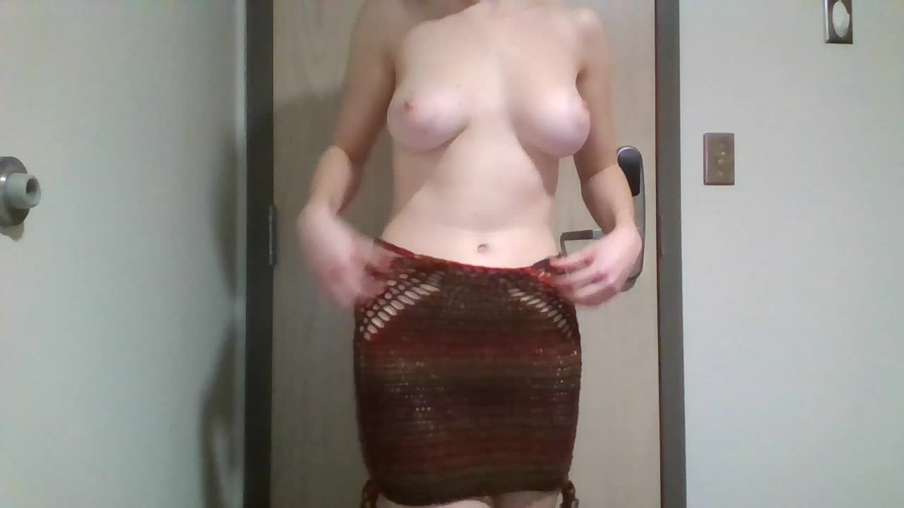 This skirt is meant to be worn without panties. What do you think?