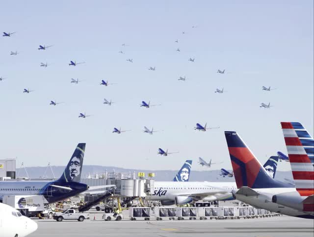 Watch and share SF Airport GIFs by AJ LOOPS THINGS on Gfycat