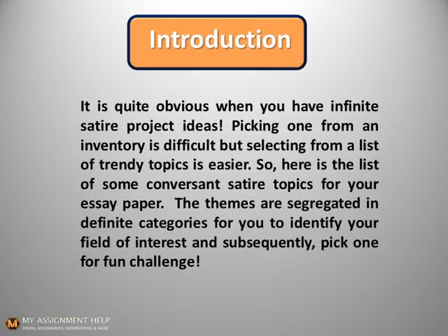 Top  Satirical Essay Topics For A Good Presentation Video Gif By  Watch Top  Satirical Essay Topics For A Good Presentation Video Gif By  Levibaxter On Argument Essay Topics For High School also Essay Papers Online  Proposal Essay Topics Examples