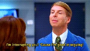 Watch arguing GIF on Gfycat. Discover more jack mcbrayer GIFs on Gfycat