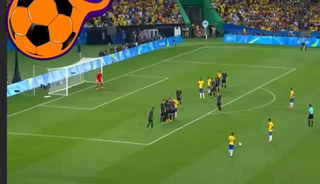 Watch and share Gol De Falta Neymar - Brasil X Alemanha - Final Olimpíadas RIO 2016 GIFs on Gfycat